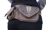 Leather Utility Double Pocket Belt Two Color
