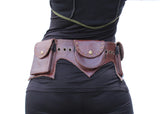 3-Pocket Leather Belt