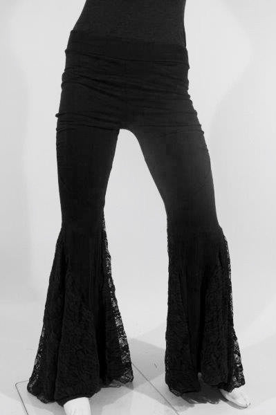 MR201A Lace Spiral Dance Pants - Mishu Boutique