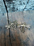 Dragonfly Brass Earrings EAR715 - Mishu Boutique
