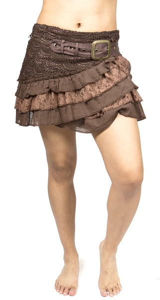MM101 Ruffle Buckle Skirt - Mishu Boutique