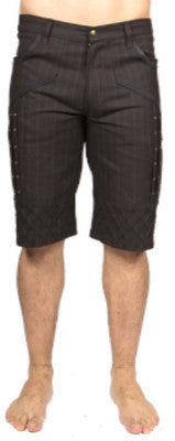 MR503A Denim Pintex Shorts - Mishu Boutique
