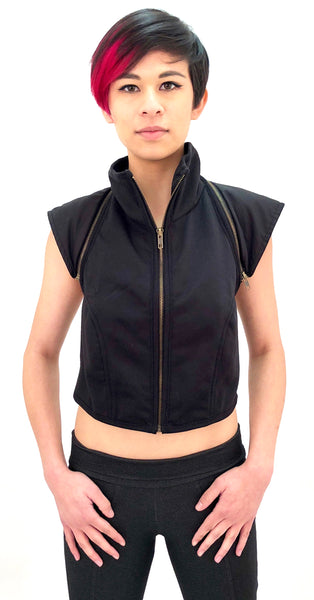 MR21 Zip Hood Sweatshirt Vest - Mishu Boutique