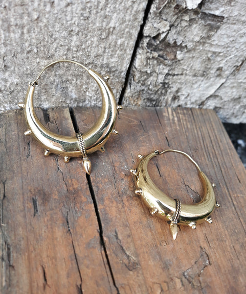 Thick Hoops EAR168 Medium - Mishu Boutique