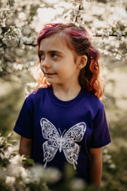 Butterfly Kids/Youth Tee 100% Made, Designed and Printed in Canada.