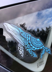 Ombre Blue Humpback Whale Car Decal