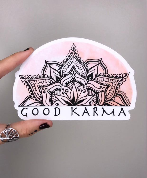 Good Karma Watercolour Mandala