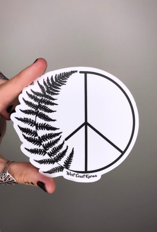 Fern Peace Vinyl Sticker