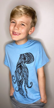 Octopus Kids/Youth Tee * 100% Made, designed and printed in Canada