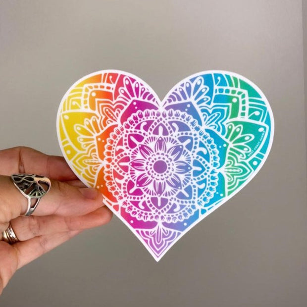 Rainbow light heart