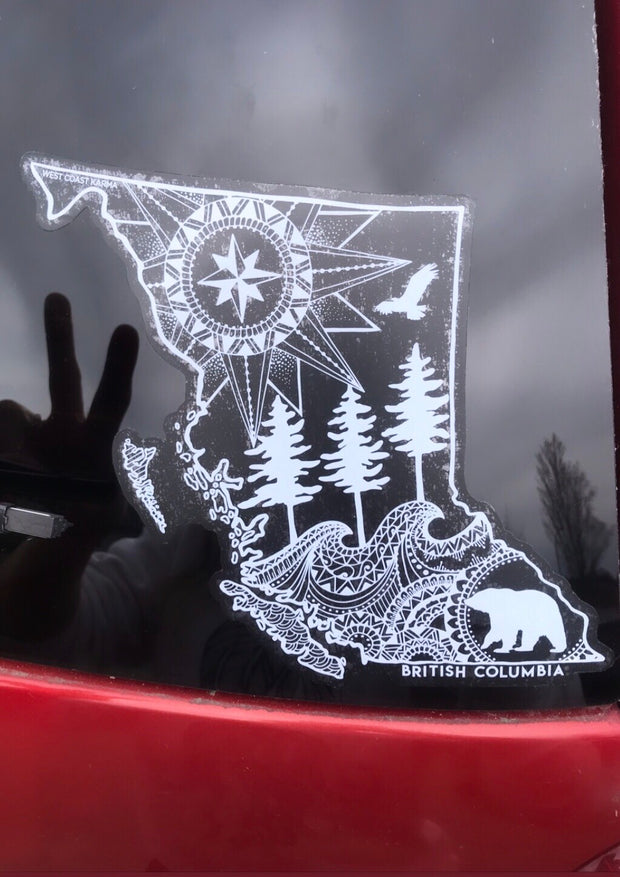 BC Map Car Decal