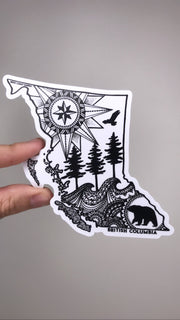 BC Map Sticker