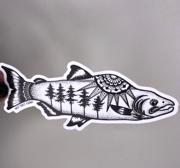 Nature Salmon Vinyl Sticker
