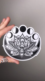 Lotus Moon Sticker