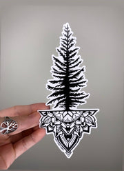 Tree Mandala Vinyl Sticker