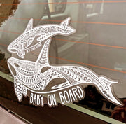 Orca Baby On Board Decal