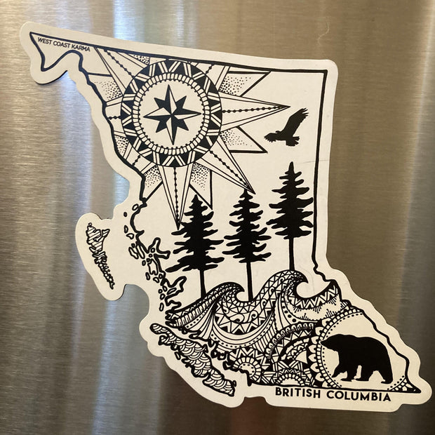 BC Map Magnet