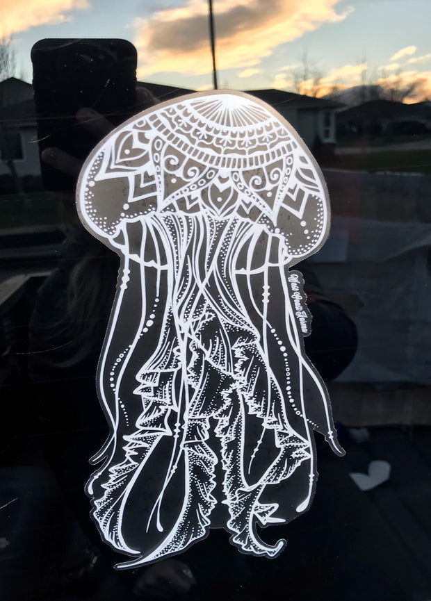 Jellyfish Car Decal