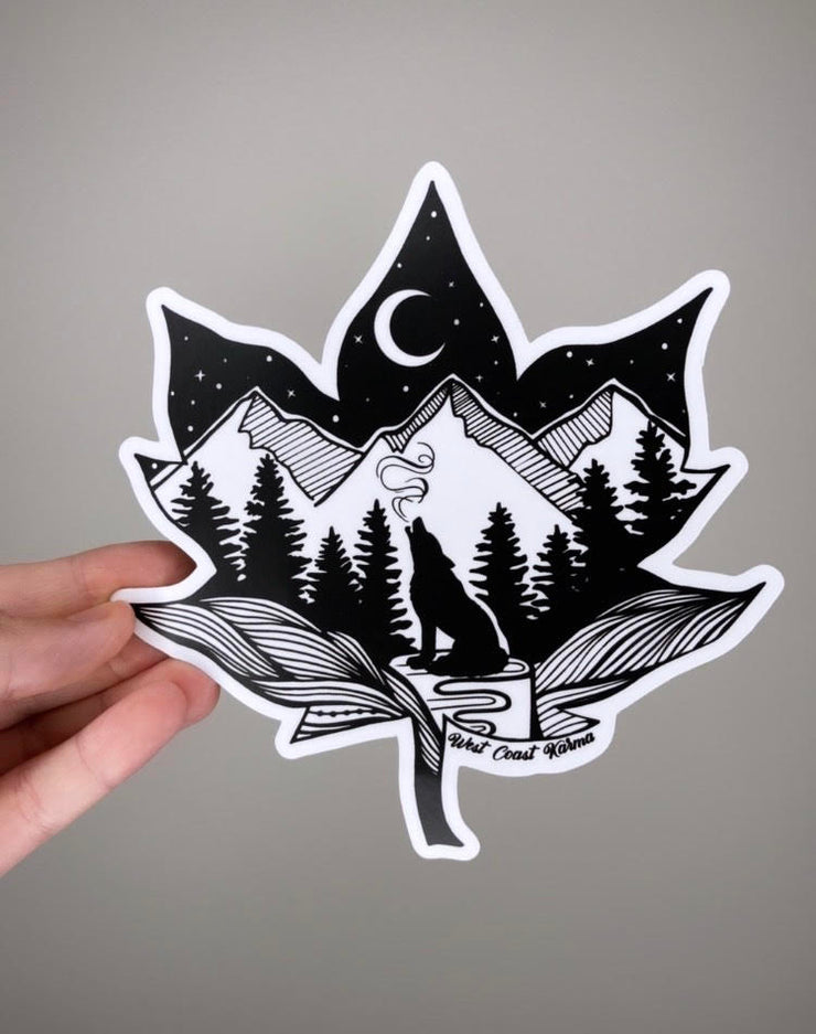 Maple Wolf Vinyl Sticker