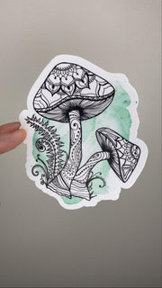 Watercolour Mushroom Vinyl Sticker