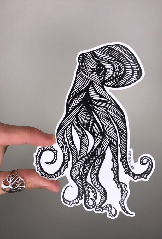 Octopus Vinyl Sticker