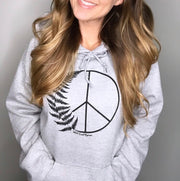 Peace Fern Pullover Hooded Sweatshirt