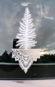 Tree Mandala Car Decal