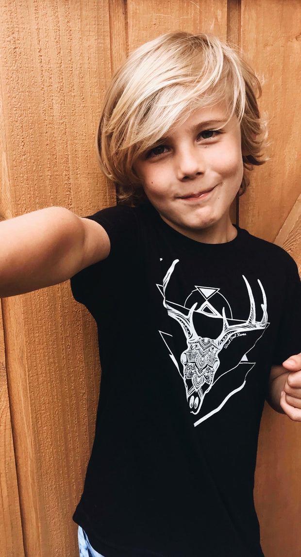 Deer Skull Kids/Youth Tee * 100% Made, designed and printed in Canada