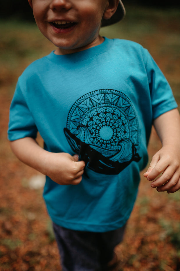 Whale Mandala Kids Tee - West Coast Karma