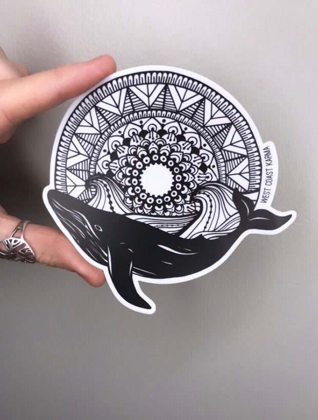 Whale Mandala Sticker