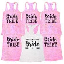 "Wedding Bridal Party and Bridesmaid Tank Tops - ""Bride Tribe"" Getting Married Gift  Womens Tank Tops"