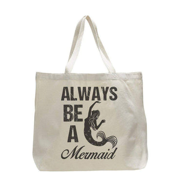 Always Be A Mermaid - Trendy Natural Canvas Bag - Funny and Unique - Tote Bag  Womens Tank Tops