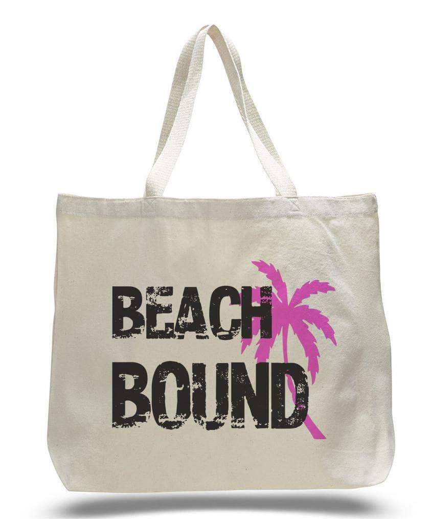 Beach Bound Tote Bag - Trendy Natural Canvas Bag - Funny and Unique - Tote Bag  Womens Tank Tops