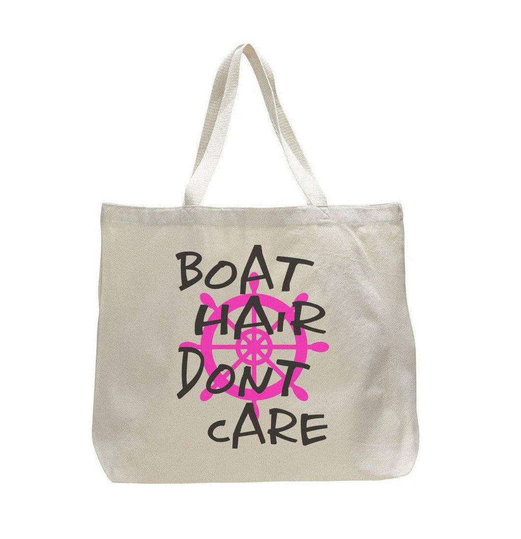 Boat Hair Don't Care - Trendy Natural Canvas Bag - Funny and Unique - Tote Bag  Womens Tank Tops