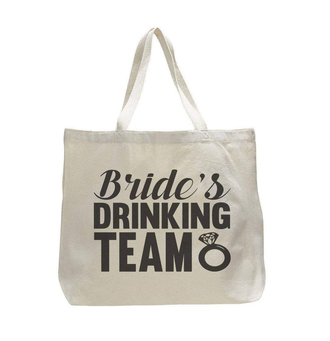 Bride'S Drinking Team - Trendy Natural Canvas Bag - Funny and Unique - Tote Bag  Womens Tank Tops