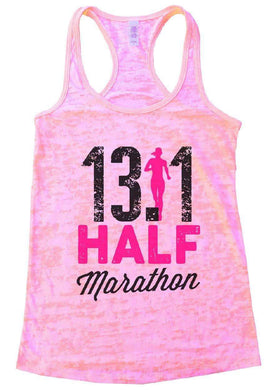 13.1 HALF Marathon Burnout Tank Top By Womens Tank Tops Small Womens Tank Tops Light Pink