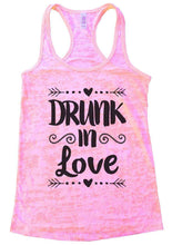 DRUNK In Love Burnout Tank Top By Womens Tank Tops Small Womens Tank Tops Light Pink