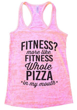 FITNESS? More Like FITNESS Whole PIZZA In My Mouth Burnout Tank Top By Womens Tank Tops Small Womens Tank Tops Light Pink