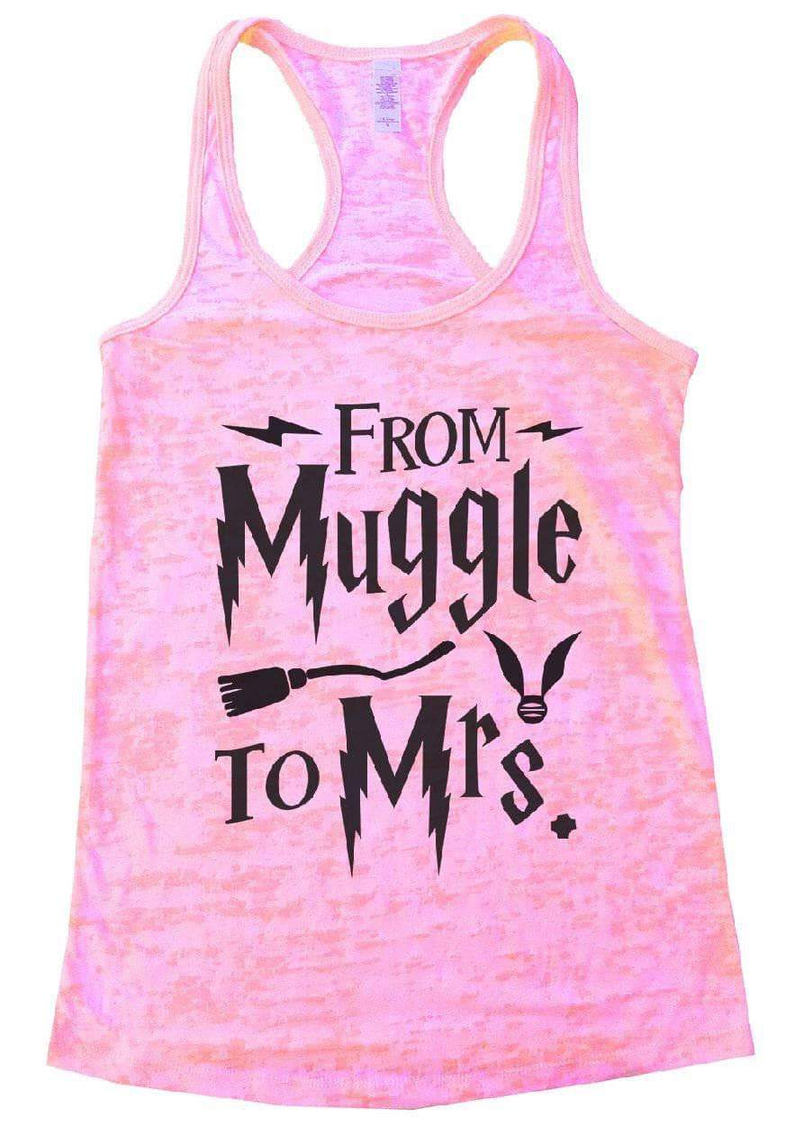 FROM Muggle To Mrs. Burnout Tank Top By Womens Tank Tops Small Womens Tank Tops Light Pink