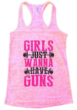 GIRLS JUST WANNA HAVE GUNS Burnout Tank Top By Womens Tank Tops Small Womens Tank Tops Light Pink