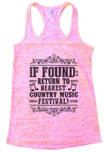 IF FOUND: RETURN TO NEAREST COUNTRY MUSIC FESTIVAL! Burnout Tank Top By Womens Tank Tops Small Womens Tank Tops Light Pink