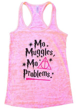 Mo Muggles Mo Problems Burnout Tank Top By Womens Tank Tops Small Womens Tank Tops Light Pink