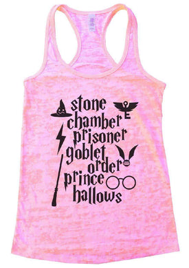 Stone Chamber Prisoner Goblet Order Prince Hallows Burnout Tank Top By Womens Tank Tops Small Womens Tank Tops Light Pink