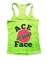 ACE In Your Face Burnout Tank Top By Womens Tank Tops Small Womens Tank Tops Neon Green