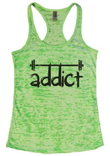 Addict Womens Burnout Tank Top By Womens Tank Tops Small Womens Tank Tops Neon Green