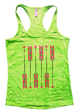 Arrow Burnout Tank Top By Womens Tank Tops Small Womens Tank Tops Neon Green