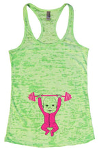 Baby Weightlifting Burnout Tank Top By Womens Tank Tops Small Womens Tank Tops Neon Green