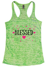 BLESSED Burnout Tank Top By Womens Tank Tops Small Womens Tank Tops Neon Green