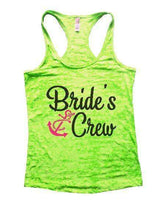 Bride's Crew Burnout Tank Top By Womens Tank Tops Small Womens Tank Tops Neon Green