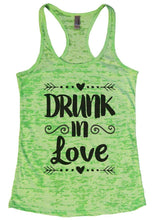 DRUNK In Love Burnout Tank Top By Womens Tank Tops Small Womens Tank Tops Neon Green